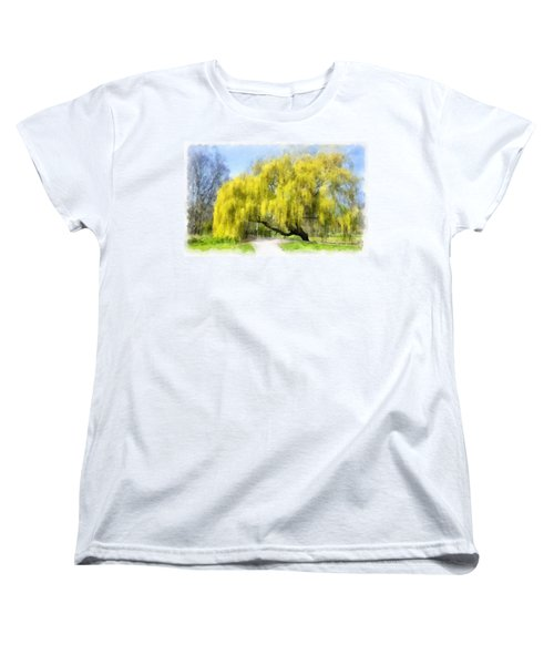 Weeping Willow Aquarell Women's T-Shirt (Standard Cut)