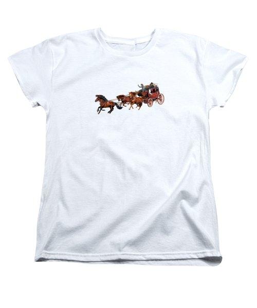Wells Fargo Stagecoach Women's T-Shirt (Standard Cut) by Glenn Holbrook