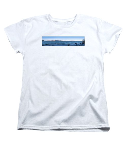 Women's T-Shirt (Standard Cut) featuring the photograph West Almanor Blue by Jan Davies