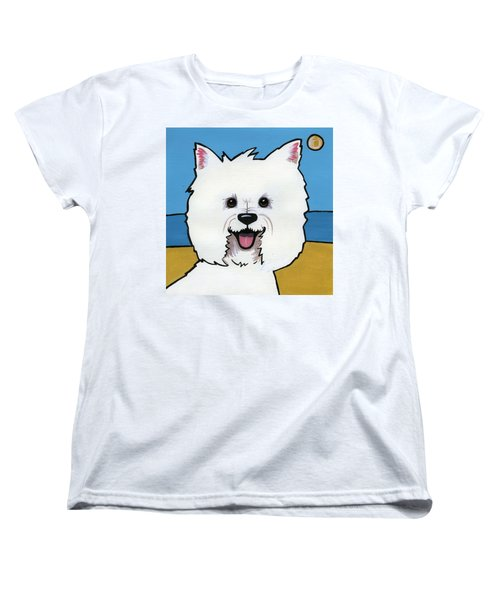 West Highland Terrier Women's T-Shirt (Standard Cut) by Leanne Wilkes