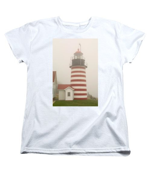 West Quody Head Lighthouse Women's T-Shirt (Standard Cut) by Brent L Ander