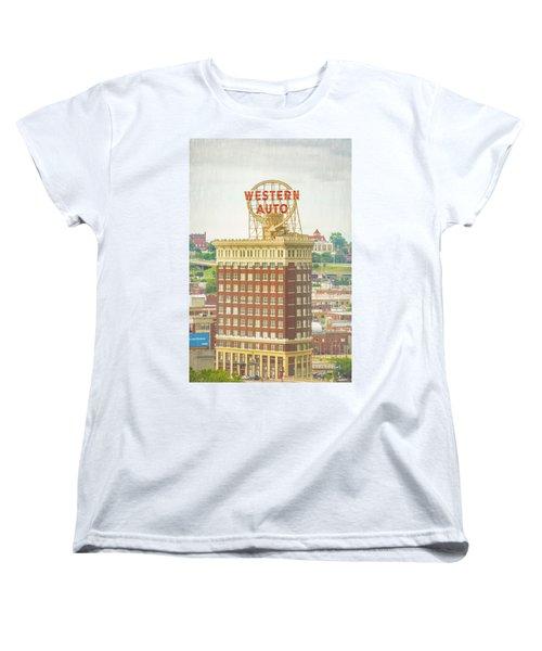 Western Auto Women's T-Shirt (Standard Cut) by Pamela Williams