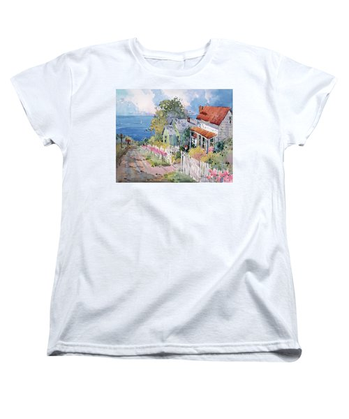 Westport By The Sea Women's T-Shirt (Standard Cut) by Joyce Hicks