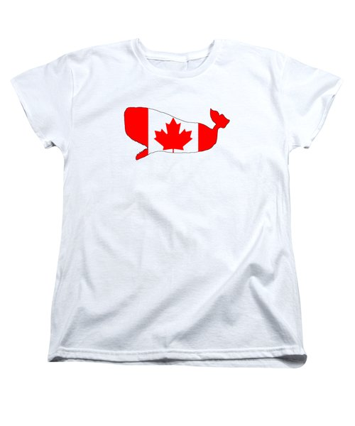 Whale Canada Women's T-Shirt (Standard Cut) by Mordax Furittus