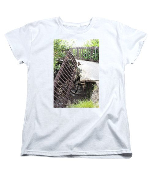 Women's T-Shirt (Standard Cut) featuring the photograph What Storms Can Do by Marie Neder
