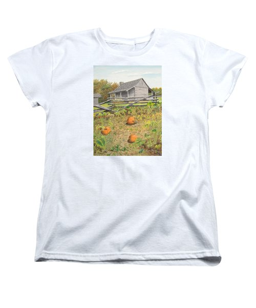 What's Left Of The Old Homestead Women's T-Shirt (Standard Cut) by Norm Starks