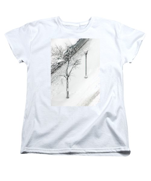 When Nature Quiets The City Women's T-Shirt (Standard Cut) by Dana DiPasquale