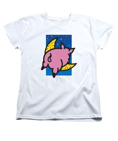 When Pigs Fly Women's T-Shirt (Standard Cut) by Steve Ellis
