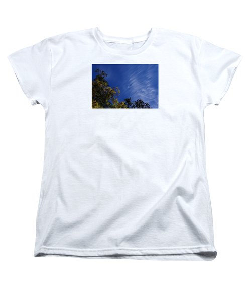Whispy Clouds Women's T-Shirt (Standard Cut) by Adria Trail