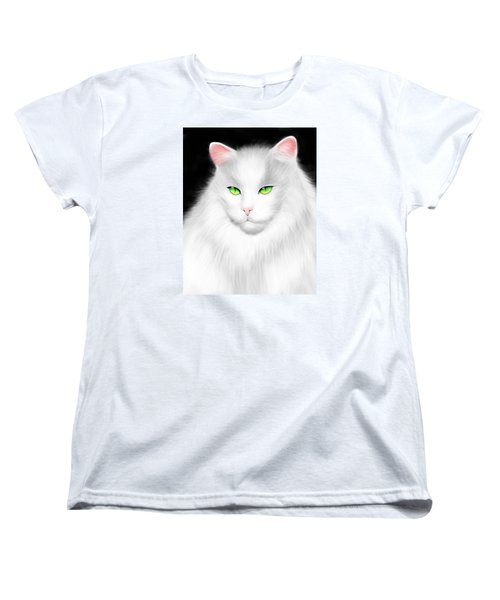 White Cat Women's T-Shirt (Standard Cut) by Salman Ravish
