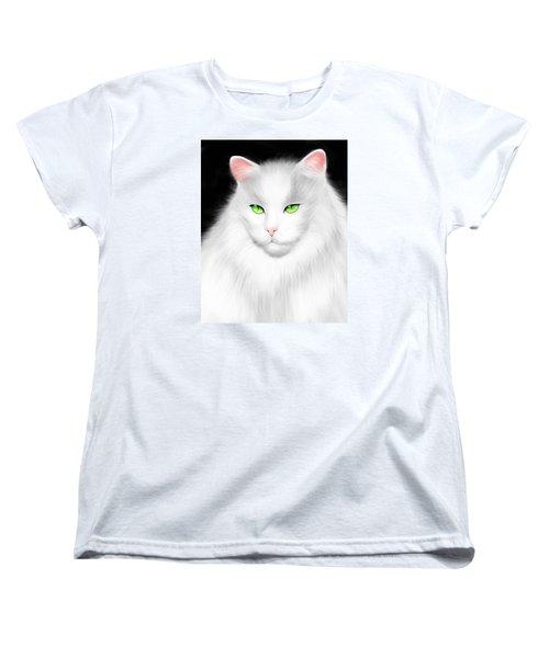 White Cat Women's T-Shirt (Standard Cut)