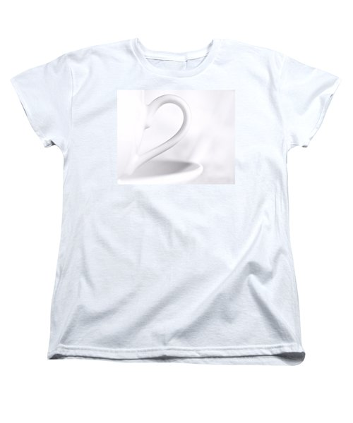 White Cup And Saucer Women's T-Shirt (Standard Cut) by Josephine Buschman
