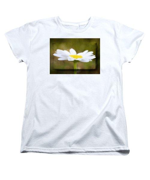 White Daisy Women's T-Shirt (Standard Cut) by Eduard Moldoveanu