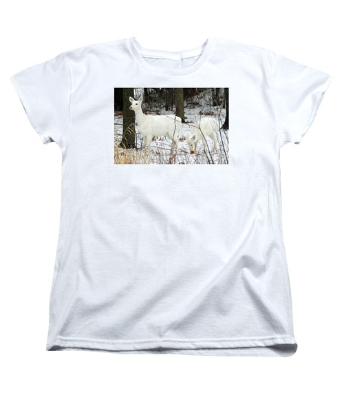 White Deer With Squash 4 Women's T-Shirt (Standard Cut) by Brook Burling