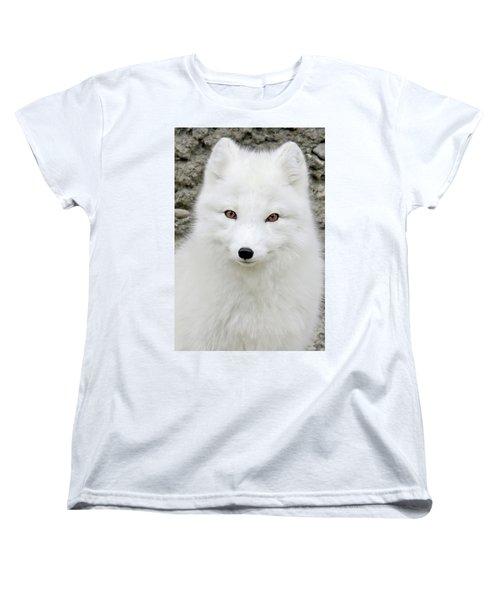 White Fox Women's T-Shirt (Standard Cut) by Athena Mckinzie