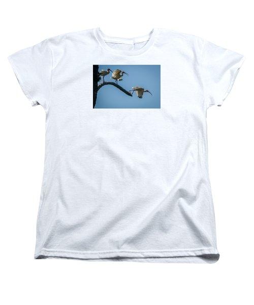 White Ibis Takeoff Women's T-Shirt (Standard Cut) by Tom Claud