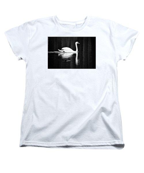 White In Black  Women's T-Shirt (Standard Cut) by Teemu Tretjakov