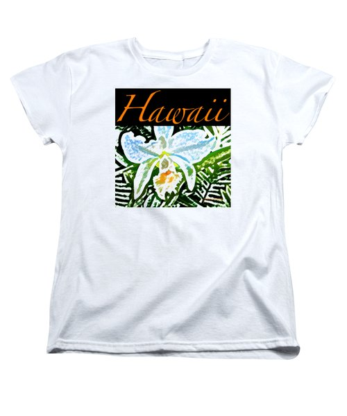 White Orchid T-shirt Women's T-Shirt (Standard Cut) by James Temple