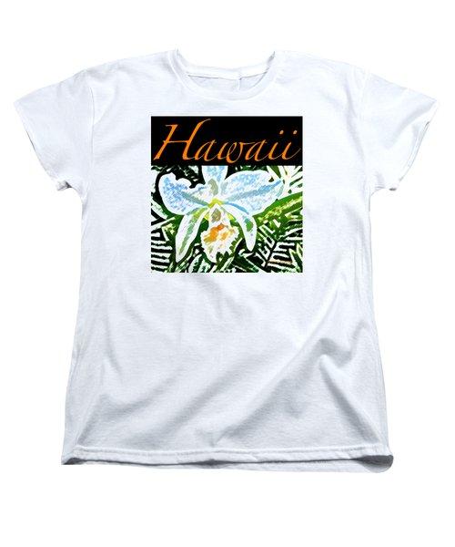 White Orchid T-shirt Women's T-Shirt (Standard Fit)