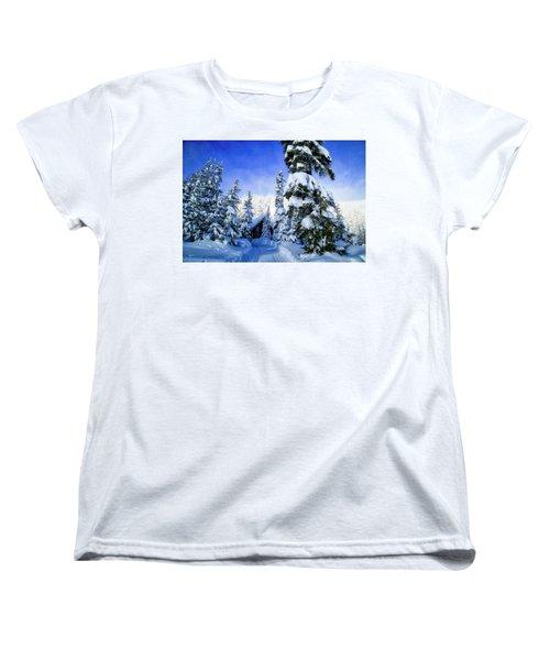White Pass Chalet Women's T-Shirt (Standard Cut) by Lynn Hopwood