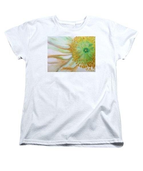 Women's T-Shirt (Standard Cut) featuring the painting White Poppy by Sheron Petrie