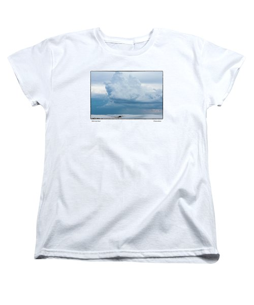 Women's T-Shirt (Standard Cut) featuring the photograph White Sands Cloud by R Thomas Berner