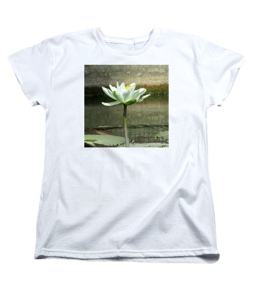 Women's T-Shirt (Standard Cut) featuring the photograph White Water Lily 2 by Randall Weidner