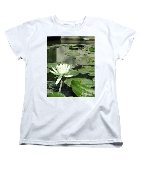 Women's T-Shirt (Standard Cut) featuring the photograph White Water Lily 3 by Randall Weidner