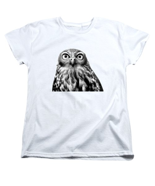 Whoo You Callin A Wise Guy Women's T-Shirt (Standard Cut) by Marion Cullen