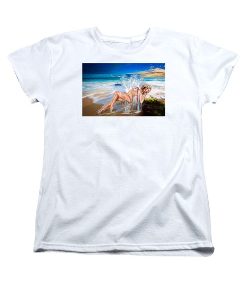 Women's T-Shirt (Standard Cut) featuring the photograph Whoops  ...  Marylin by Glenn Feron