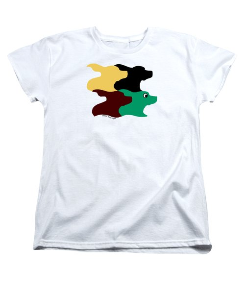 Wild And Crazy Tessellating Dogs Women's T-Shirt (Standard Cut)