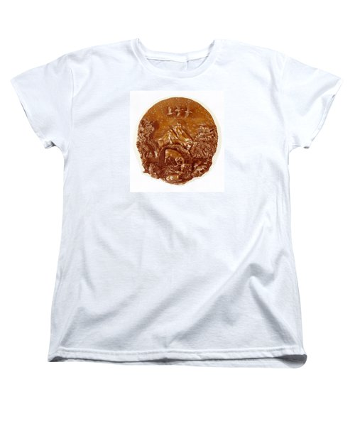 Women's T-Shirt (Standard Cut) featuring the sculpture Wild And Free Detail by Dawn Senior-Trask