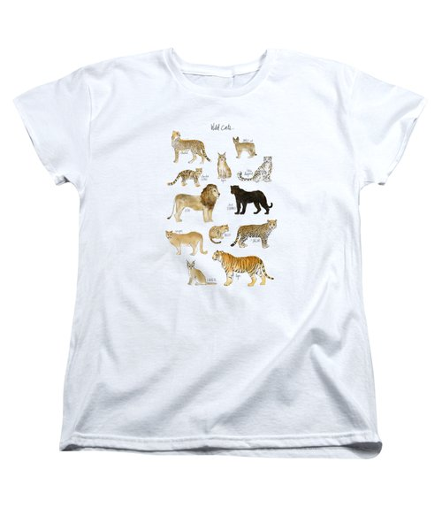 Wild Cats Women's T-Shirt (Standard Cut) by Amy Hamilton