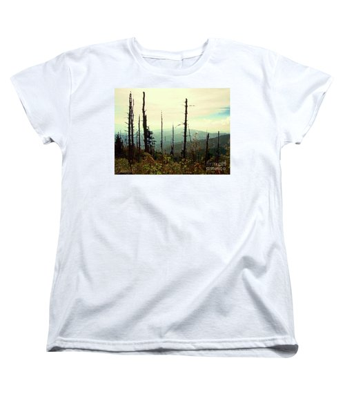 Women's T-Shirt (Standard Cut) featuring the mixed media Wildfire by Desiree Paquette