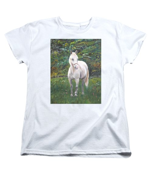 Women's T-Shirt (Standard Cut) featuring the painting Willow by Elizabeth Lock