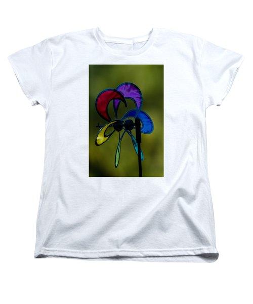 Women's T-Shirt (Standard Cut) featuring the photograph Windmill  by Ramabhadran Thirupattur