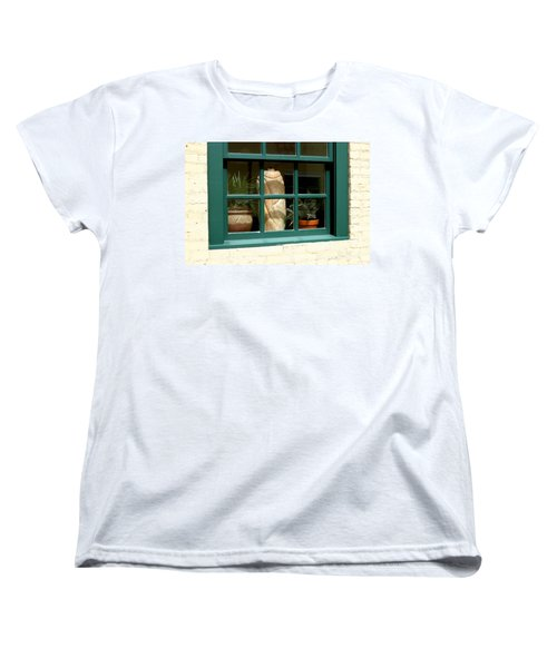 Window At Sanders Resturant Women's T-Shirt (Standard Cut) by Steve Augustin