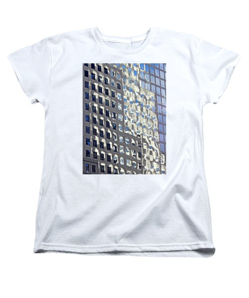 Women's T-Shirt (Standard Cut) featuring the photograph Windows Of 2 World Financial Center 2 by Sarah Loft