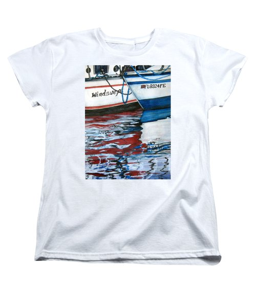 Windswept Reflections Sold Women's T-Shirt (Standard Cut) by Lil Taylor
