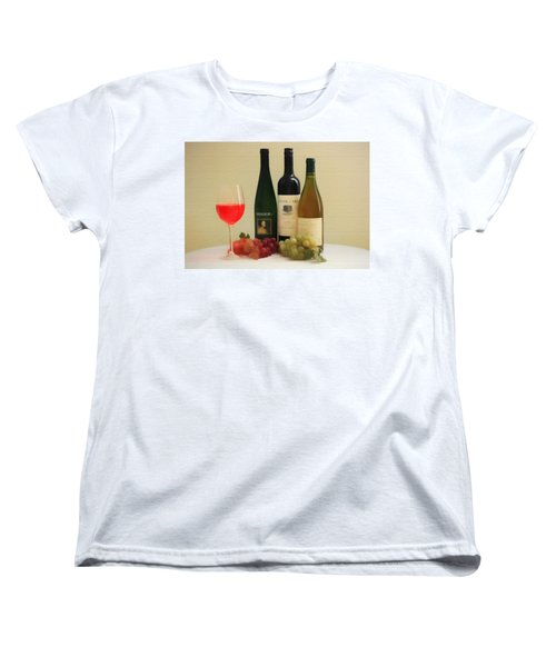 Wine Display Barn Door  Women's T-Shirt (Standard Cut) by Dan Sproul