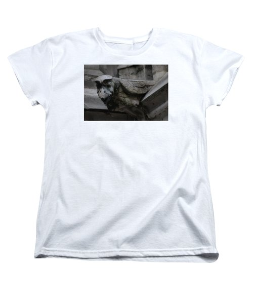 Winged Gargoyle Women's T-Shirt (Standard Cut) by Christopher Kirby