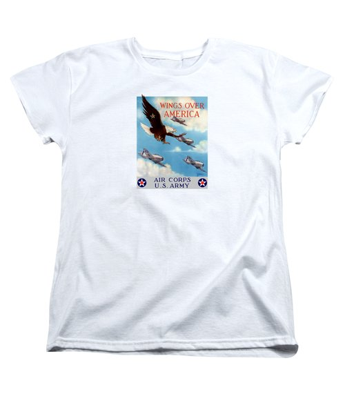 Wings Over America - Air Corps U.s. Army Women's T-Shirt (Standard Cut) by War Is Hell Store