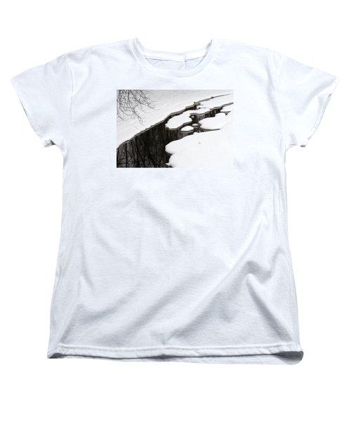 Women's T-Shirt (Standard Cut) featuring the photograph Winter Dreams by Paula Guttilla