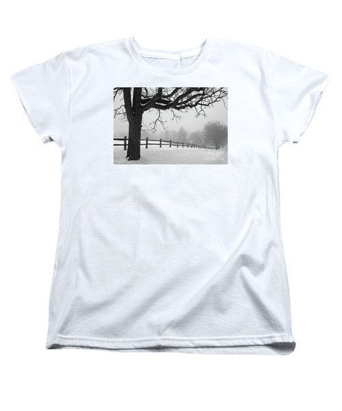 Winter Fog Women's T-Shirt (Standard Cut) by Kevin McCarthy