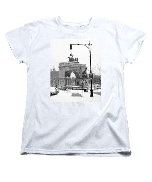 Winter Grand Army Plaza Women's T-Shirt (Standard Cut) by Mark Gilman