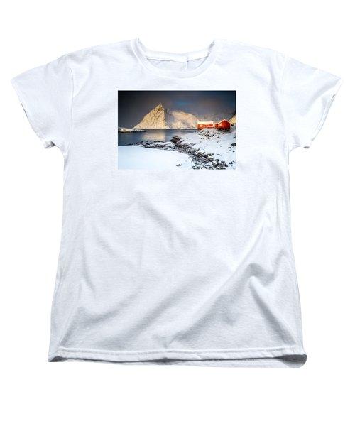 Winter In Lofoten Women's T-Shirt (Standard Cut)