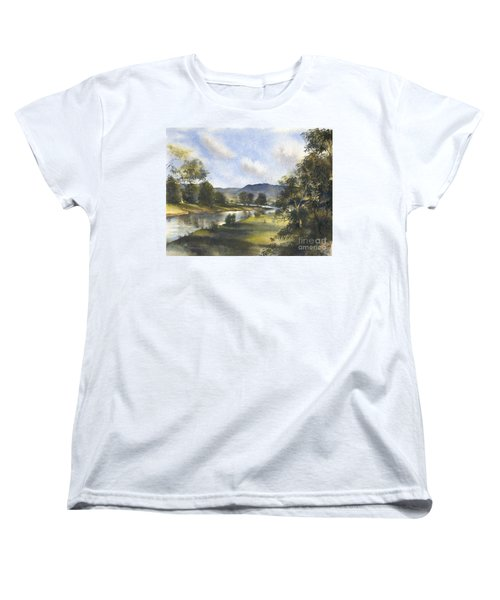 Women's T-Shirt (Standard Cut) featuring the painting Winter In The Bellinger Valley by Sandra Phryce-Jones