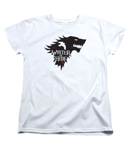Winter Is Here Women's T-Shirt (Standard Cut) by Edward Draganski
