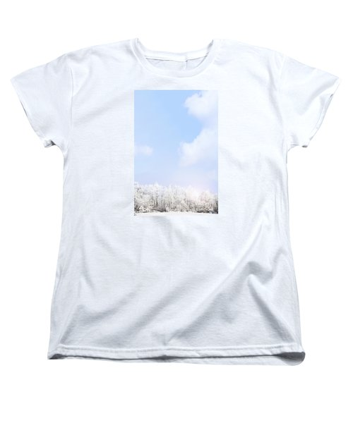 Winter Landscape Women's T-Shirt (Standard Cut) by Stephanie Frey