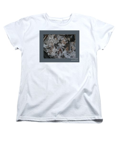 Women's T-Shirt (Standard Cut) featuring the photograph Winter Leaf Abstract-i by Patricia Overmoyer